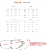 dupe size