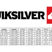 QS Rashguard Size Chart