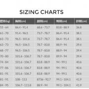 QS Wetsuit Size Chart