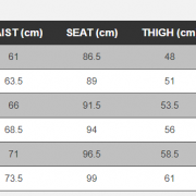 Rip Curl Women wetsuit size chart