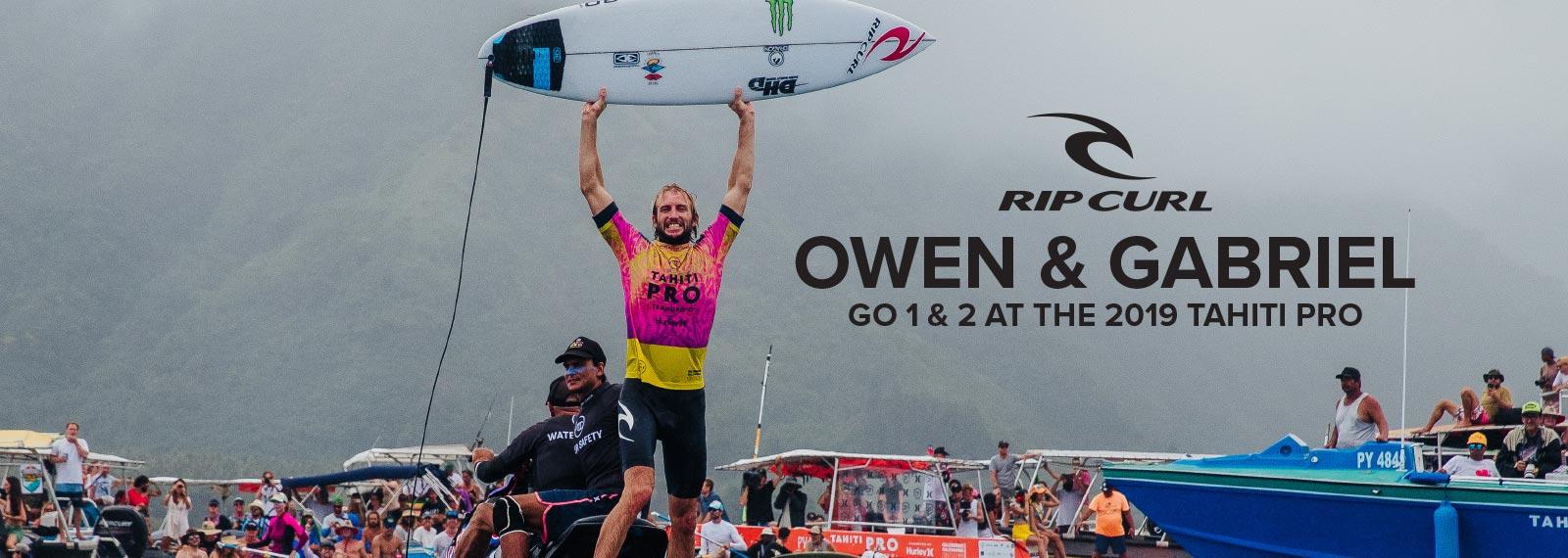 Owen Wright Wins The 2019 Tahiti Pro Teahupo'o